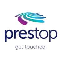 Prestop Touch Kiosks Tables Walls and Mirrors Logo