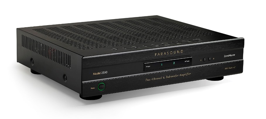 Parasound Introduces Purebred 350/600-Watt Class-D Stereo Power Amp with Crossover For Subs